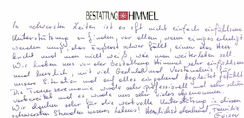 Referenzen -Bestattung in Wien -Bestattung AHIMMEL 12