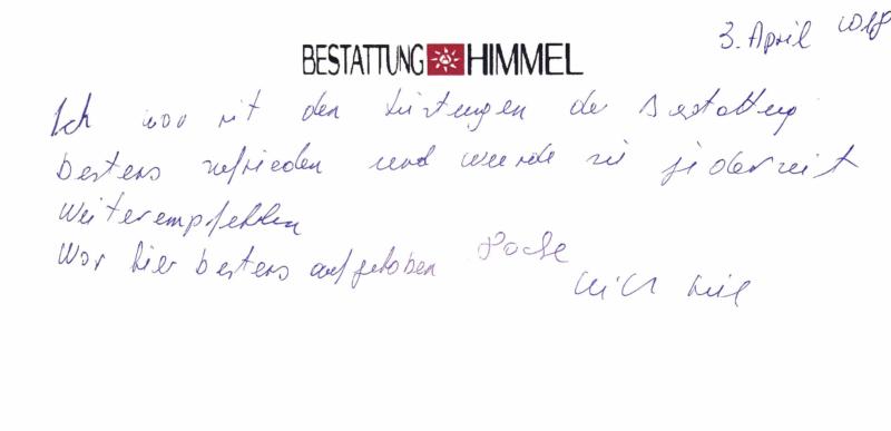 Bestattung in Wien - Bestattung AHIMMEL 2018